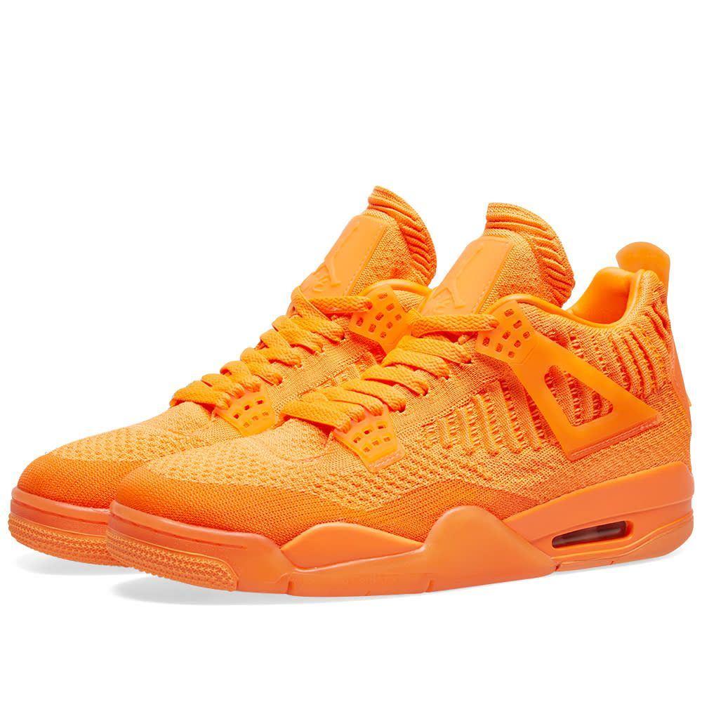 ナイキ ジョーダン Nike Jordan メンズ スニーカー シューズ・靴【air jordan 4 retro flyknit】Total Orange