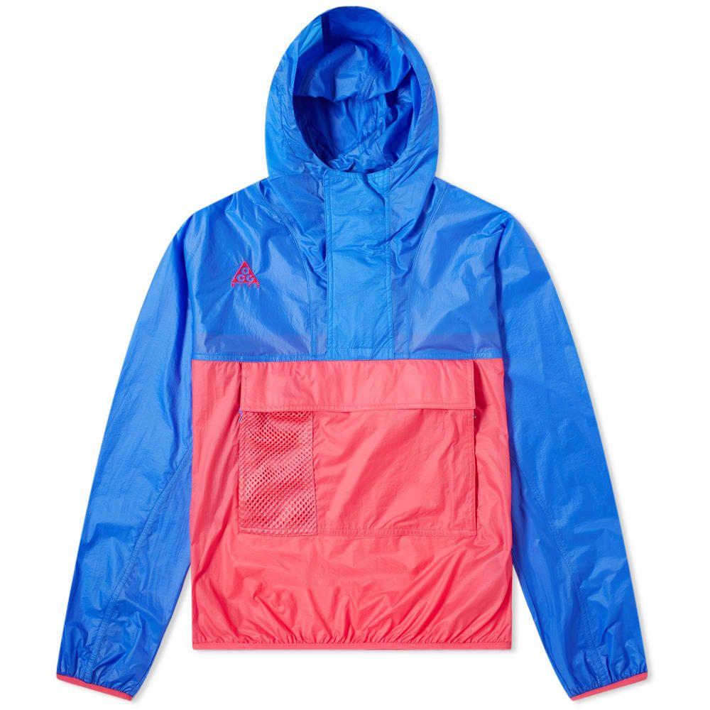 ナイキ Nike メンズ ジャケット アノラック アウター【acg hooded anorak】Hyper Royal/Rush Pink
