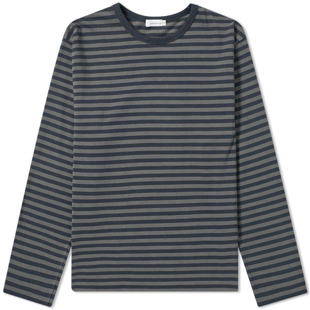 ナナミカ Nanamica メンズ 長袖Tシャツ トップス【coolmax long sleeve st. jersey tee】Dark Navy/Charcoal