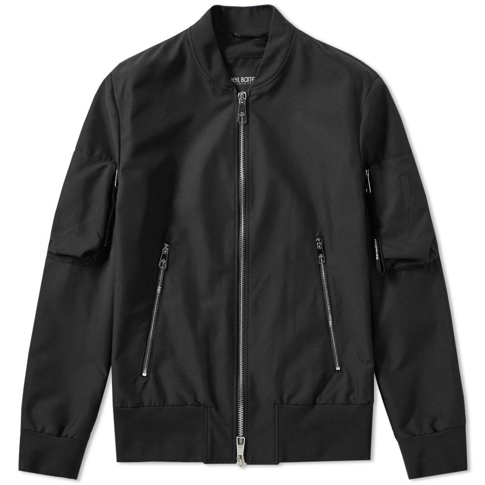 ニール バレット Neil Barrett メンズ ブルゾン ミリタリージャケット アウター【lightning bolt motif bomber jacket】Black