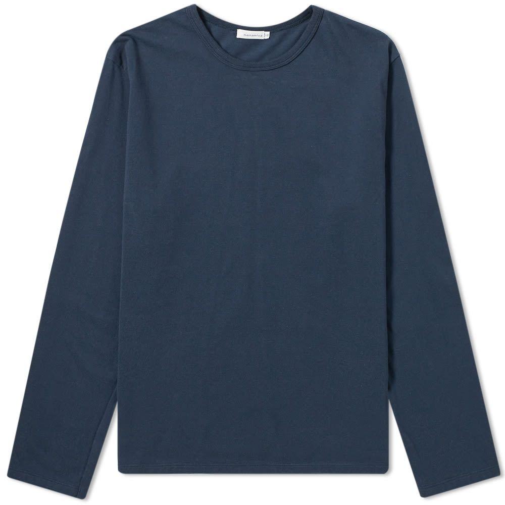 ナナミカ Nanamica メンズ 長袖Tシャツ トップス【coolmax long sleeve jersey tee】Navy