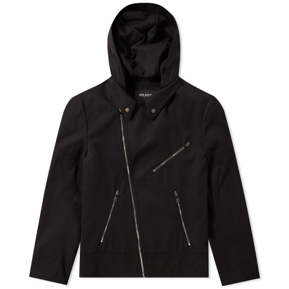 ニール バレット Neil Barrett メンズ ジャケット ライダース アウター【zip hooded biker jacket】Black