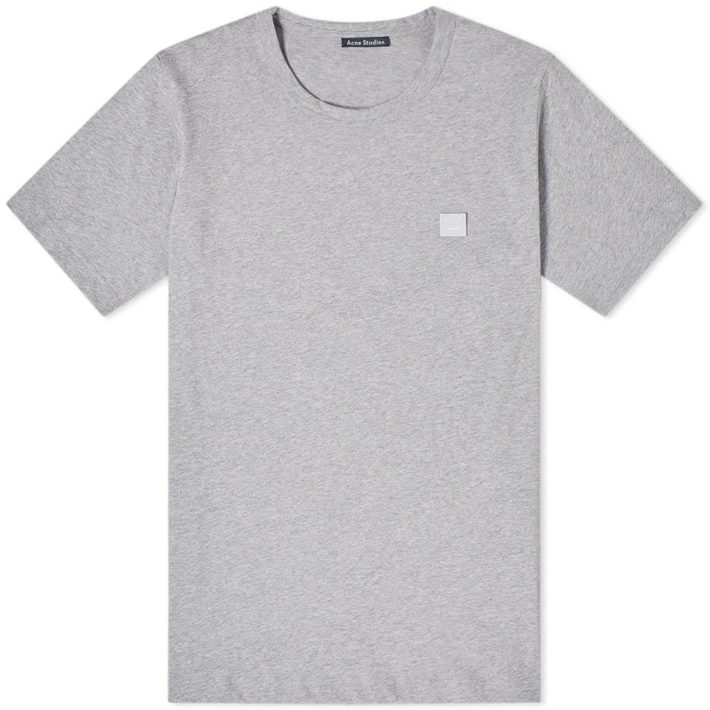 アクネ ストゥディオズ Acne Studios メンズ Tシャツ トップス【nash face tee】Light Grey Melange