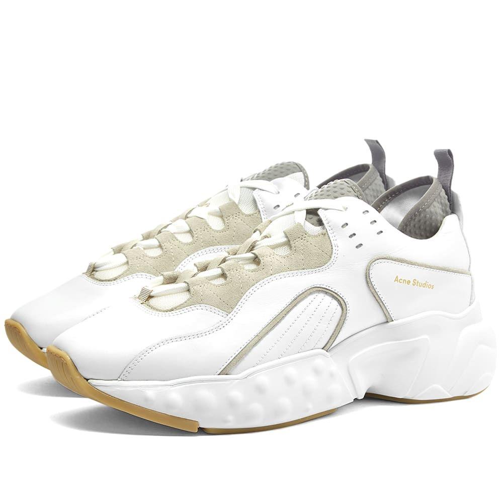 アクネ ストゥディオズ Acne Studios メンズ シューズ・靴 スニーカー【Rockaway Leather Oversize Sneaker】White