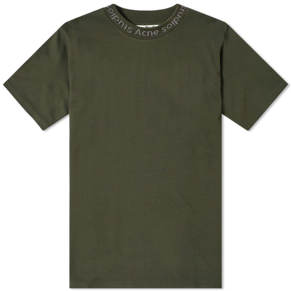 アクネ ストゥディオズ Acne Studios メンズ Tシャツ ロゴTシャツ トップス【navid logo tee】Deep Green