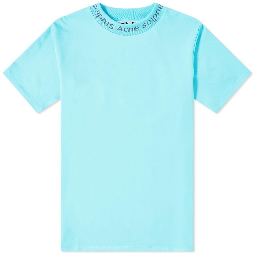 アクネ ストゥディオズ Acne Studios メンズ Tシャツ ロゴTシャツ トップス【navid logo tee】Light Turquoise
