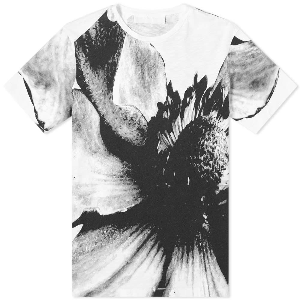 ニール バレット Neil Barrett メンズ Tシャツ トップス【macro floral tee】White/Black
