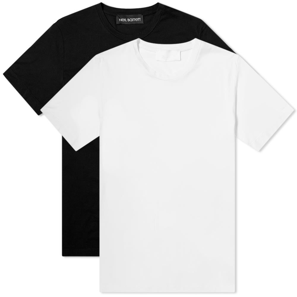 ニール バレット Neil Barrett メンズ Tシャツ トップス【twin pack travel tee】White/Black