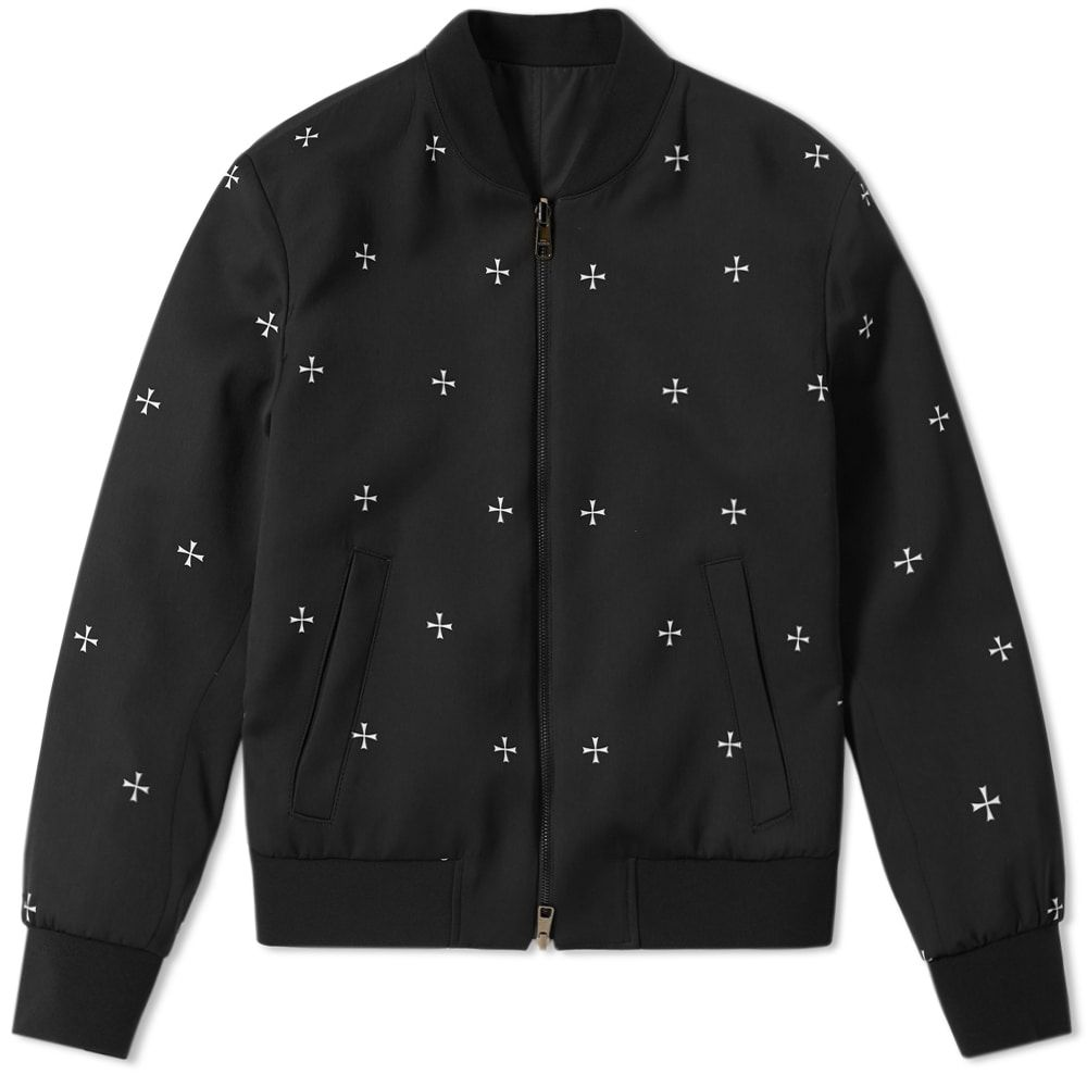 ニール バレット Neil Barrett メンズ ブルゾン ミリタリージャケット アウター【military star bomber jacket】Black/White