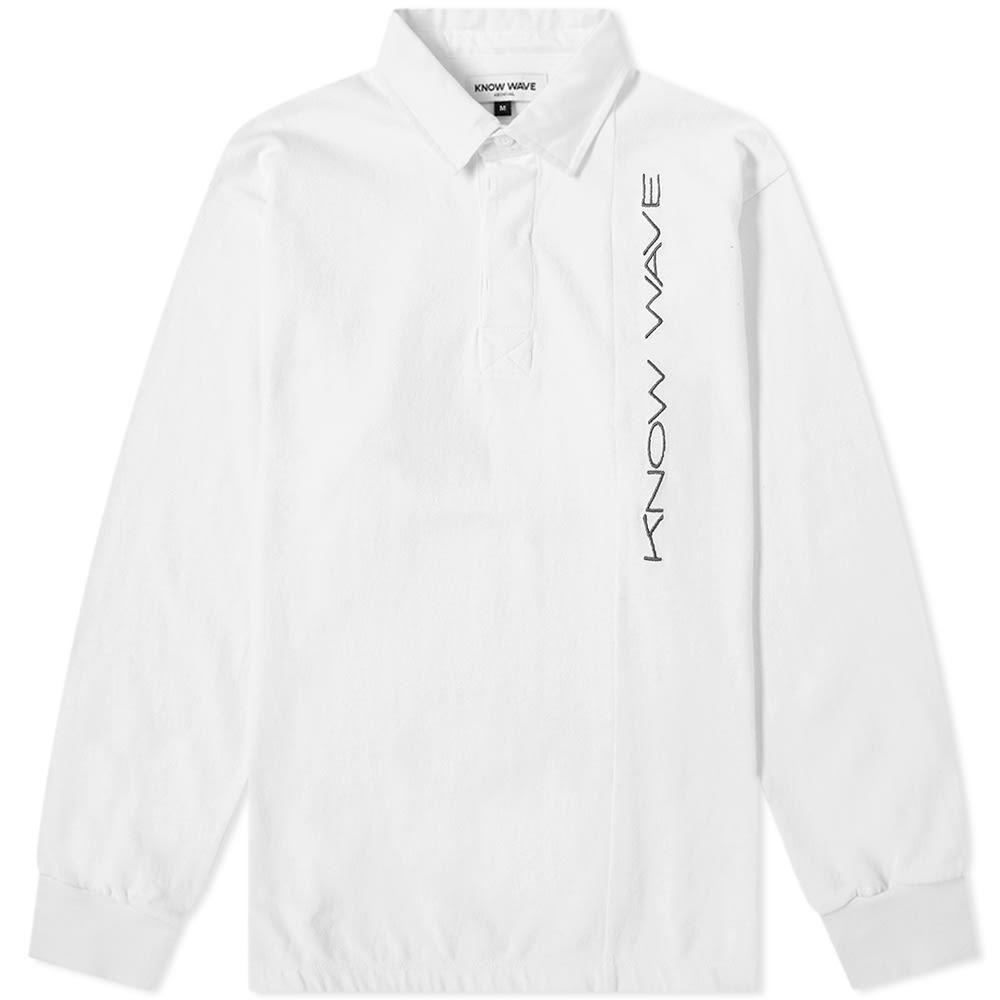 ノウ ウェイブ Know Wave メンズ ポロシャツ トップス【stretch rugby shirt】White