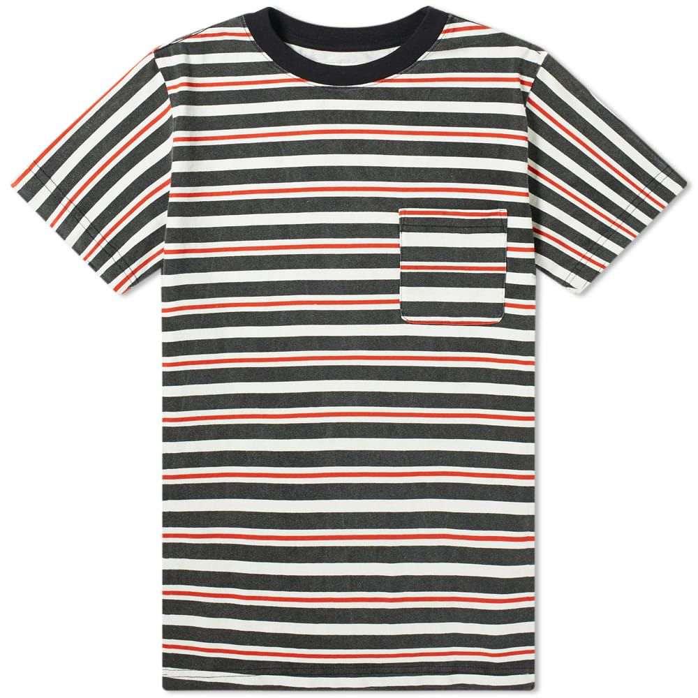 ヌーン グーンズ Noon Goons メンズ Tシャツ ポケット トップス【cruiser stripe pocket tee】Black