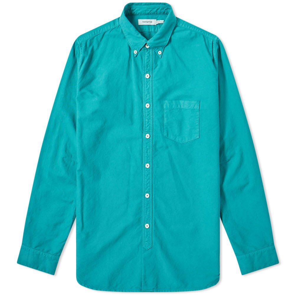 ノンネイティブ Nonnative メンズ シャツ トップス【dweller over dyed button down oxford shirt】Emerald