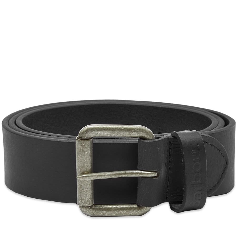 バーブァー Barbour メンズ ベルト 【matt leather belt】Black