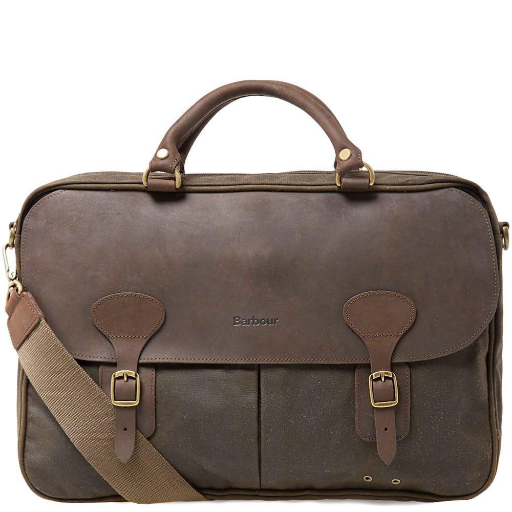 バーブァー Barbour メンズ ビジネスバッグ・ブリーフケース バッグ【wax leather briefcase】Olive