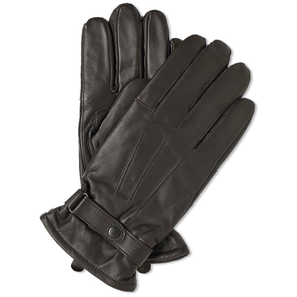 バーブァー Barbour メンズ 手袋・グローブ 【burnished leather thinsulate glove】Dark Brown