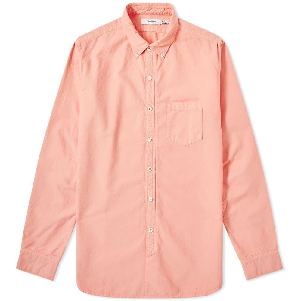 ノンネイティブ Nonnative メンズ シャツ トップス【dweller over dyed button down oxford shirt】Pink