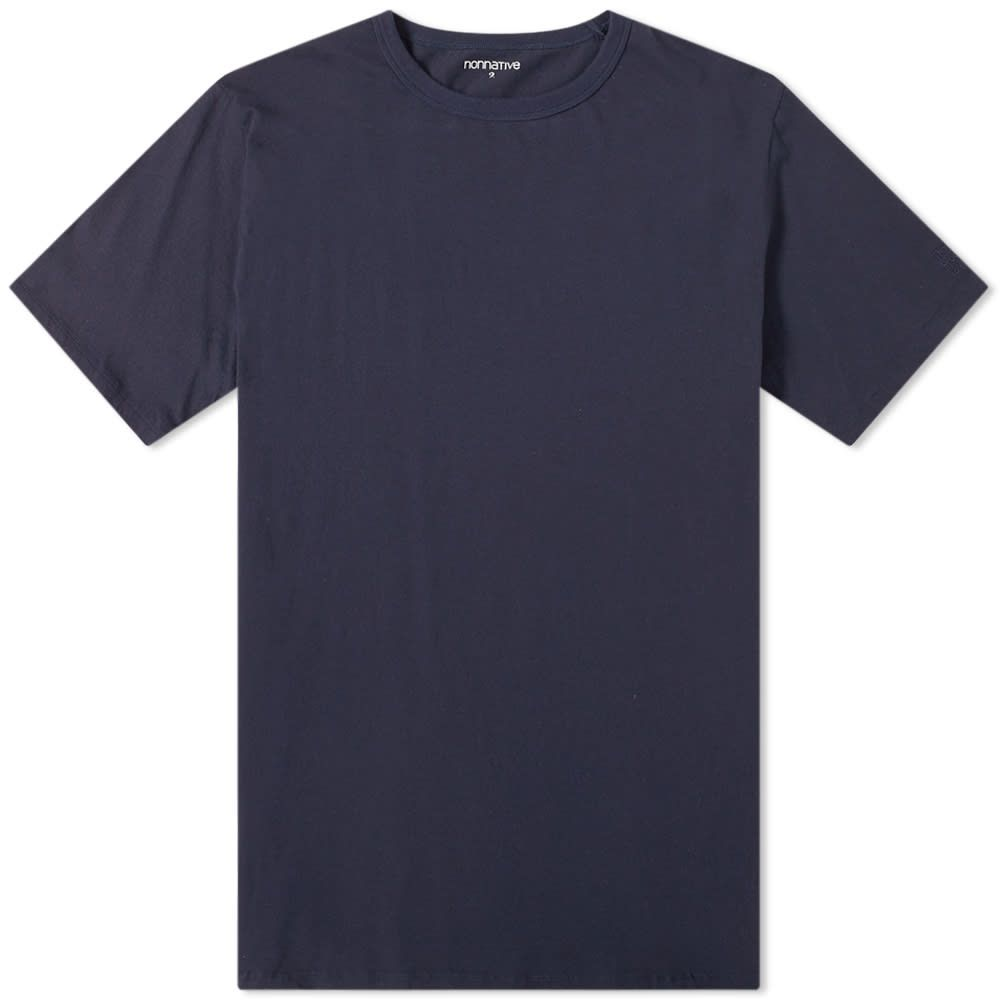 ノンネイティブ Nonnative メンズ Tシャツ トップス【stamp safari back print tee】Navy