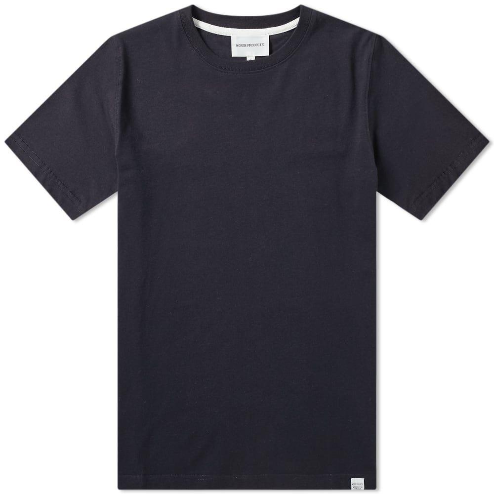 ノースプロジェクト Norse Projects メンズ Tシャツ トップス【niels standard tee】Dark Navy