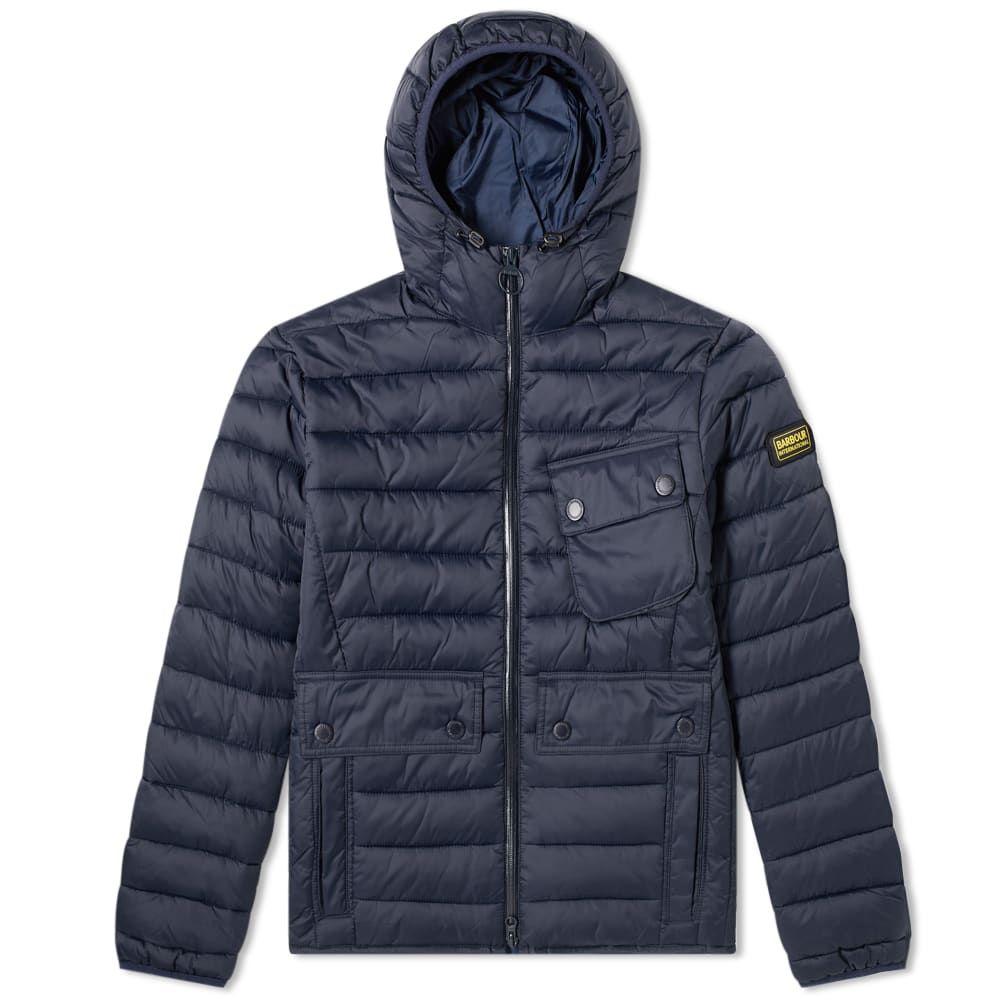 バーブァー Barbour メンズ ジャケット アウター【international ouston hooded quilt jacket】Navy