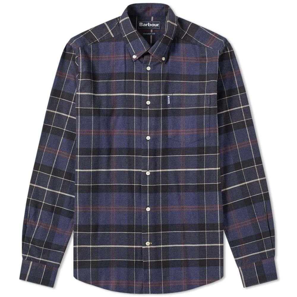 バーブァー Barbour メンズ シャツ トップス【lustleigh shirt】Navy Marl Tartan