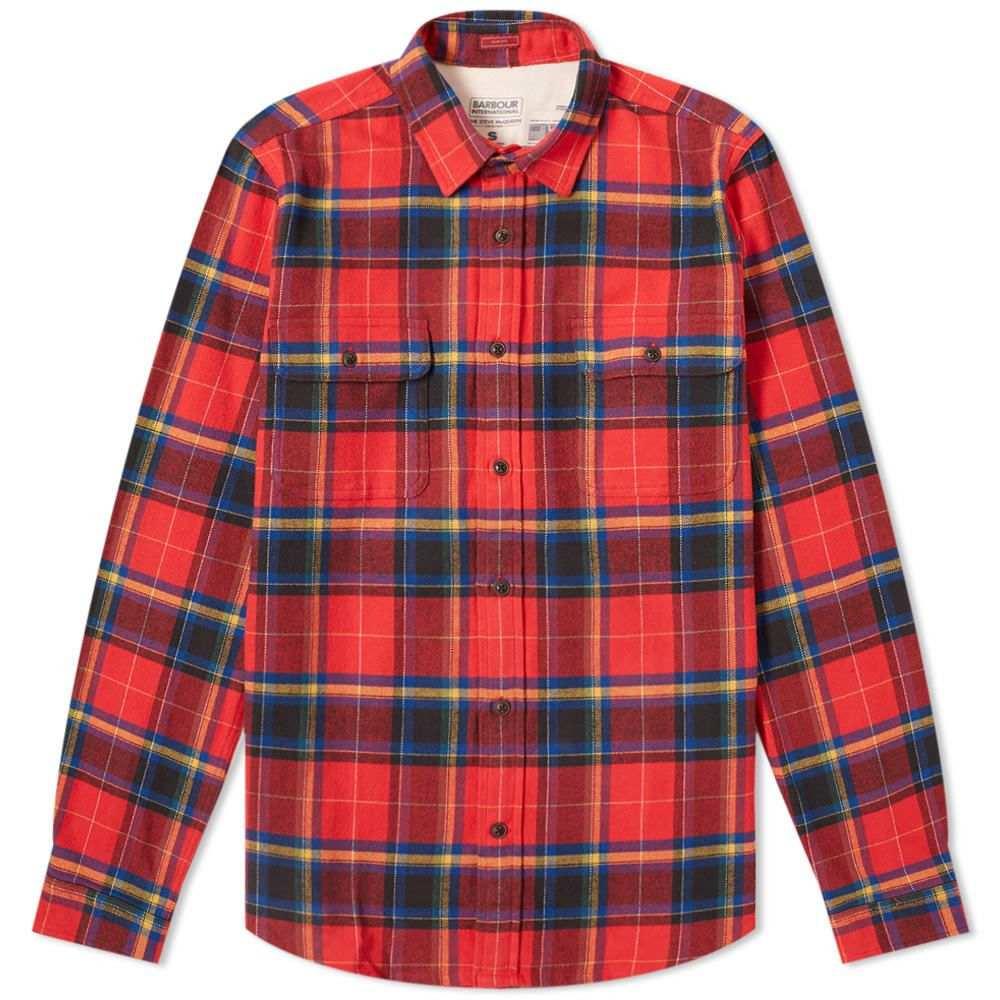 バーブァー Barbour メンズ シャツ トップス【international chuck shirt】Red
