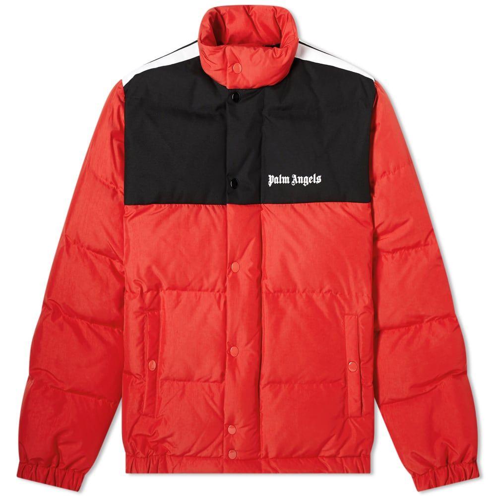 パーム エンジェルス Palm Angels メンズ ダウン・中綿ジャケット アウター【down track jacket】Red