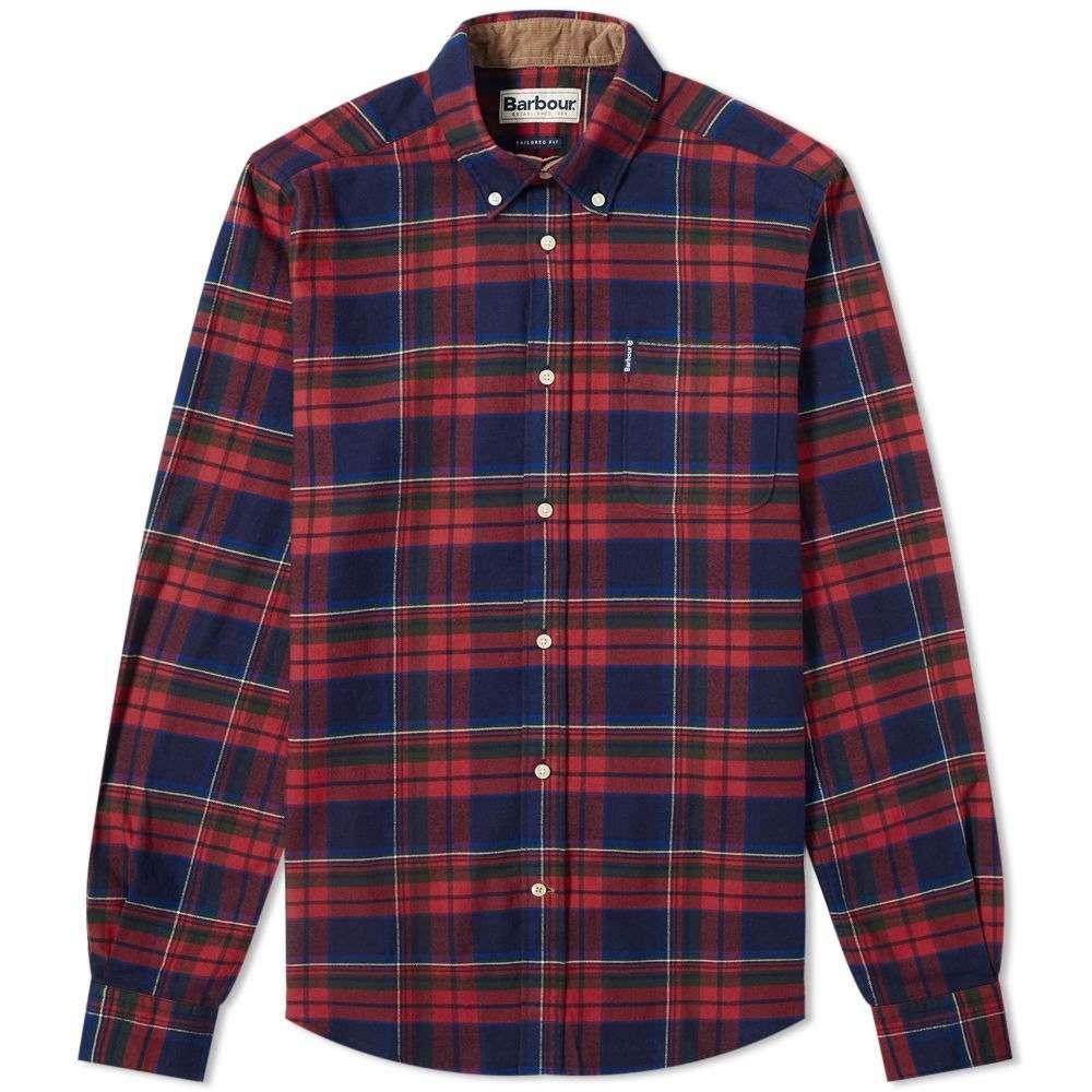 バーブァー Barbour メンズ シャツ トップス【highland check shirt】Rich Red