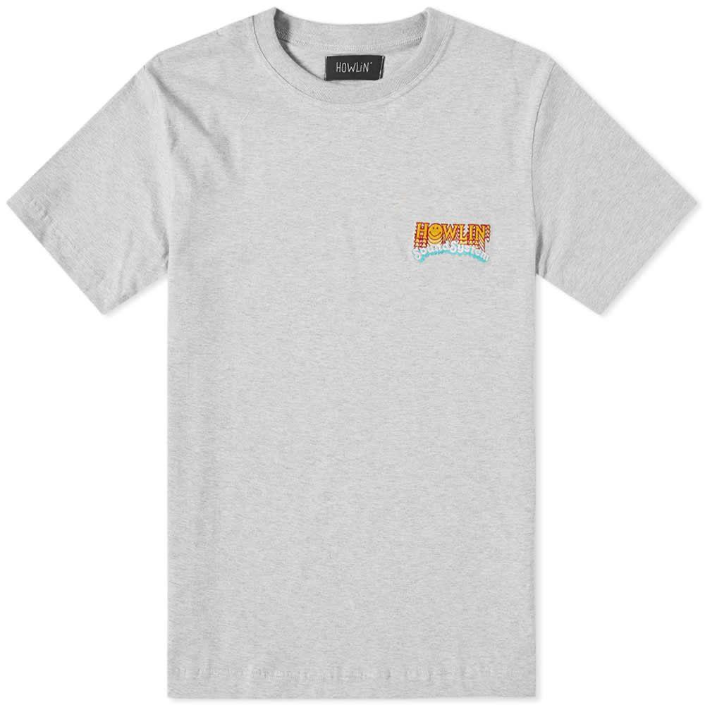 ハウリン Howlin by Morrison メンズ Tシャツ ロゴTシャツ トップス【howlin' soundsystem logo tee】Grey