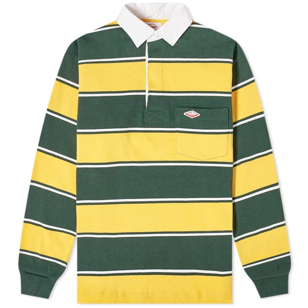 バテンウェア Battenwear メンズ ポロシャツ トップス【pocket rugby shirt】Gold/Green/White Stripe
