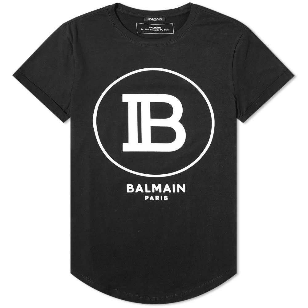 バルマン Balmain メンズ Tシャツ ロゴTシャツ トップス【b circle logo tee】Black/White