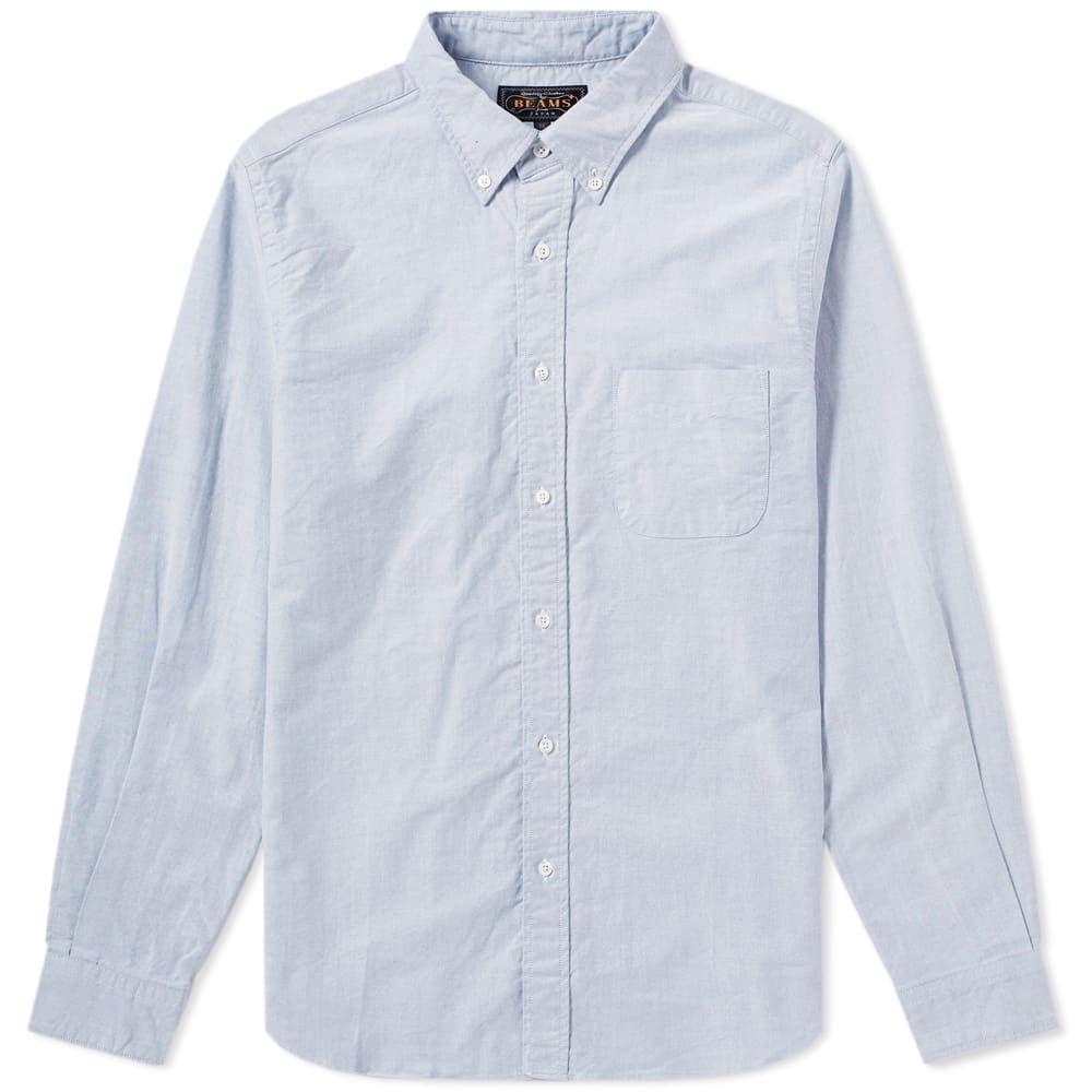 ビームス プラス Beams Plus メンズ シャツ トップス【button down oxford shirt】Blue