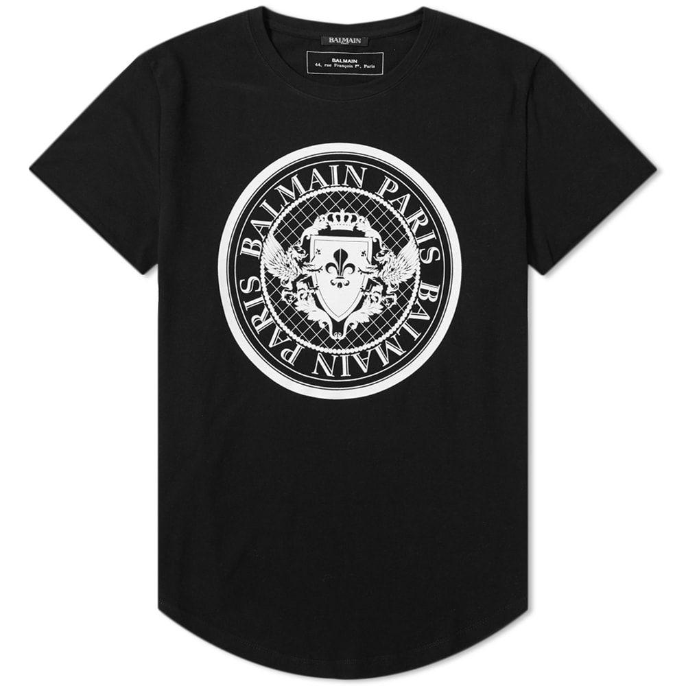 バルマン Balmain メンズ Tシャツ トップス【coin print tee】Black/White