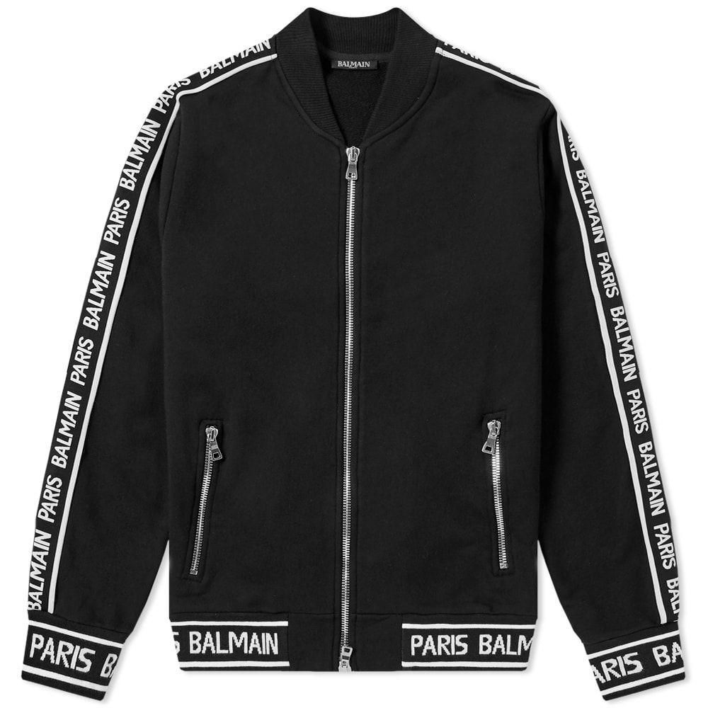 バルマン Balmain メンズ ブルゾン ミリタリージャケット アウター【taped bomber jacket】Black