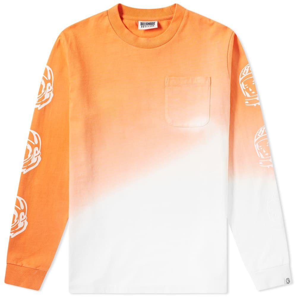 ビリオネアボーイズクラブ Billionaire Boys Club メンズ 長袖Tシャツ トップス【long sleeve bleached tee】Coral