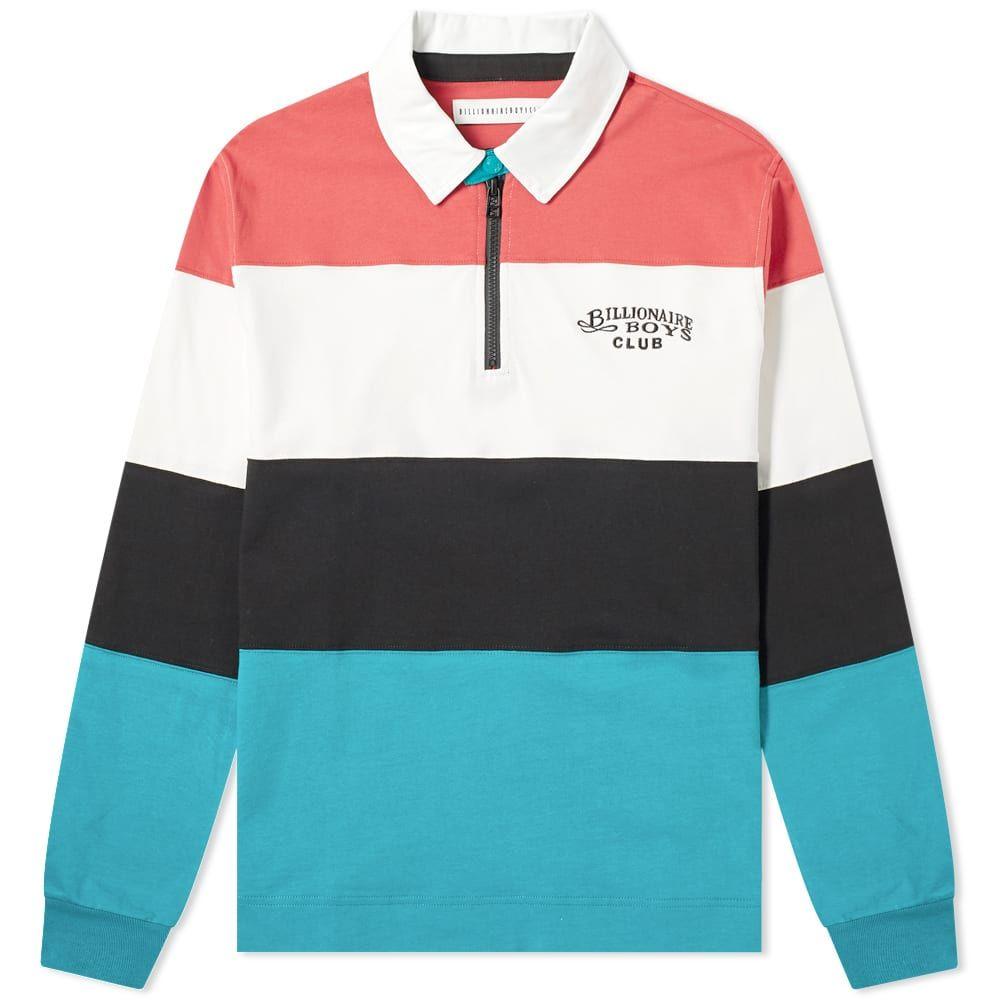 ビリオネアボーイズクラブ Billionaire Boys Club メンズ ポロシャツ トップス【cut & sew rugby shirt】Stripe
