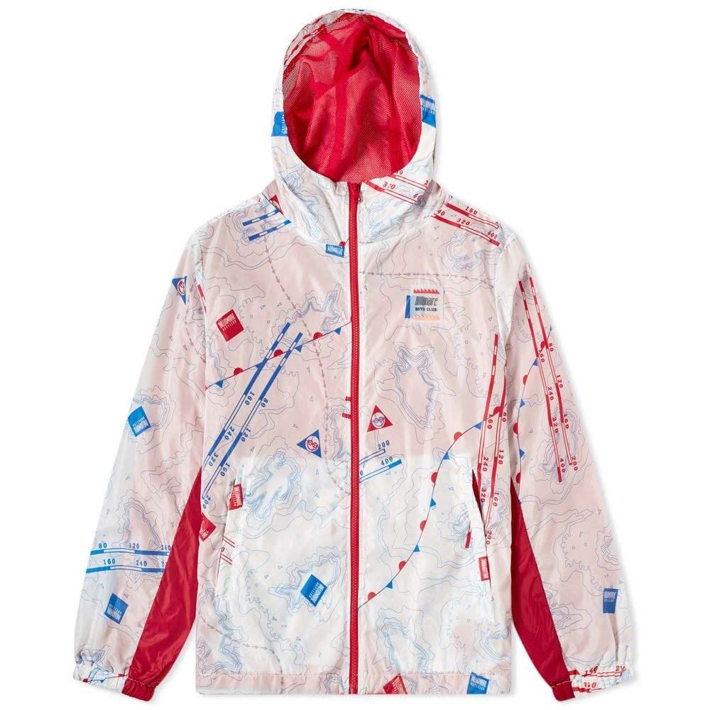 ビリオネアボーイズクラブ Billionaire Boys Club メンズ ジャケット ウィンドブレーカー アウター【nautical print windbreaker】White