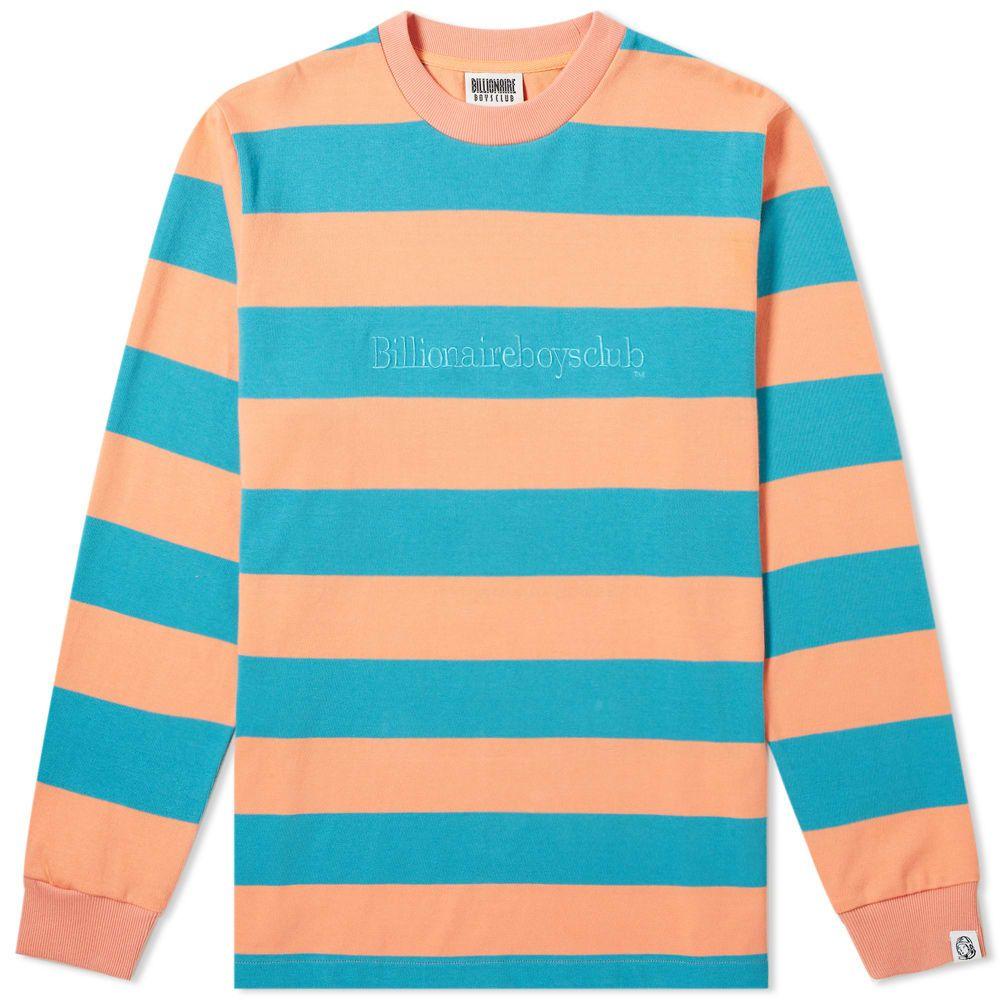 ビリオネアボーイズクラブ Billionaire Boys Club メンズ 長袖Tシャツ トップス【long sleeve heavy stripe tee】Coral