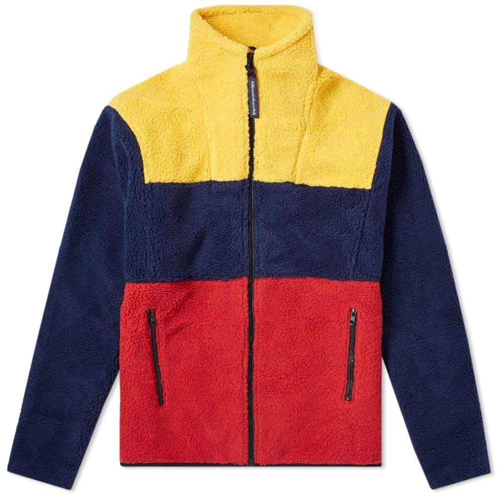 ビリオネアボーイズクラブ Billionaire Boys Club メンズ フリース トップス【colour block zip fleece】Navy