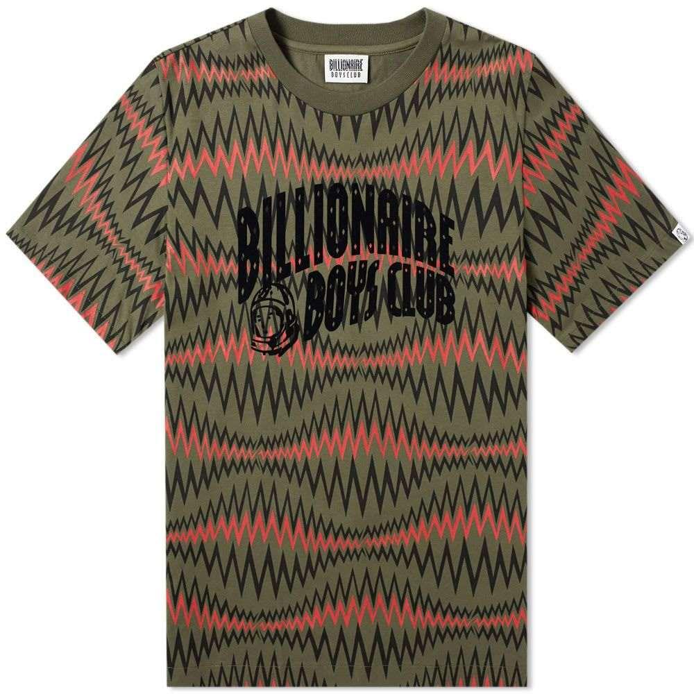 ビリオネアボーイズクラブ Billionaire Boys Club メンズ Tシャツ ロゴTシャツ トップス【soundwave arch logo tee】Olive