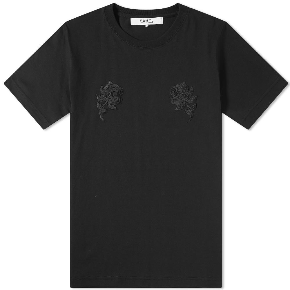 ファンダメンタル FDMTL メンズ Tシャツ トップス【rose tee】Black