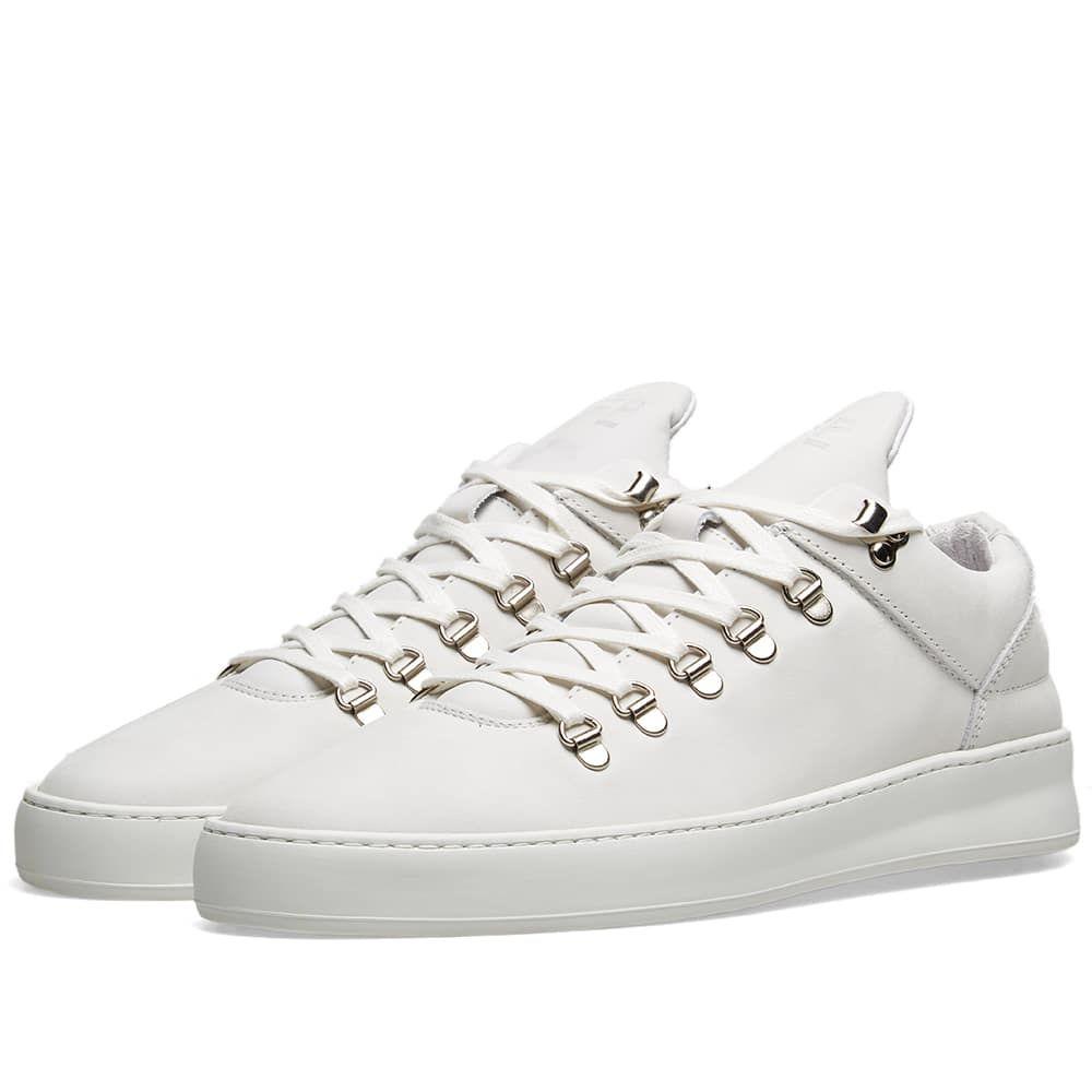 フィリング ピース Filling Pieces メンズ シューズ・靴 スニーカー【Mountain Cut Sneaker】All White Leather