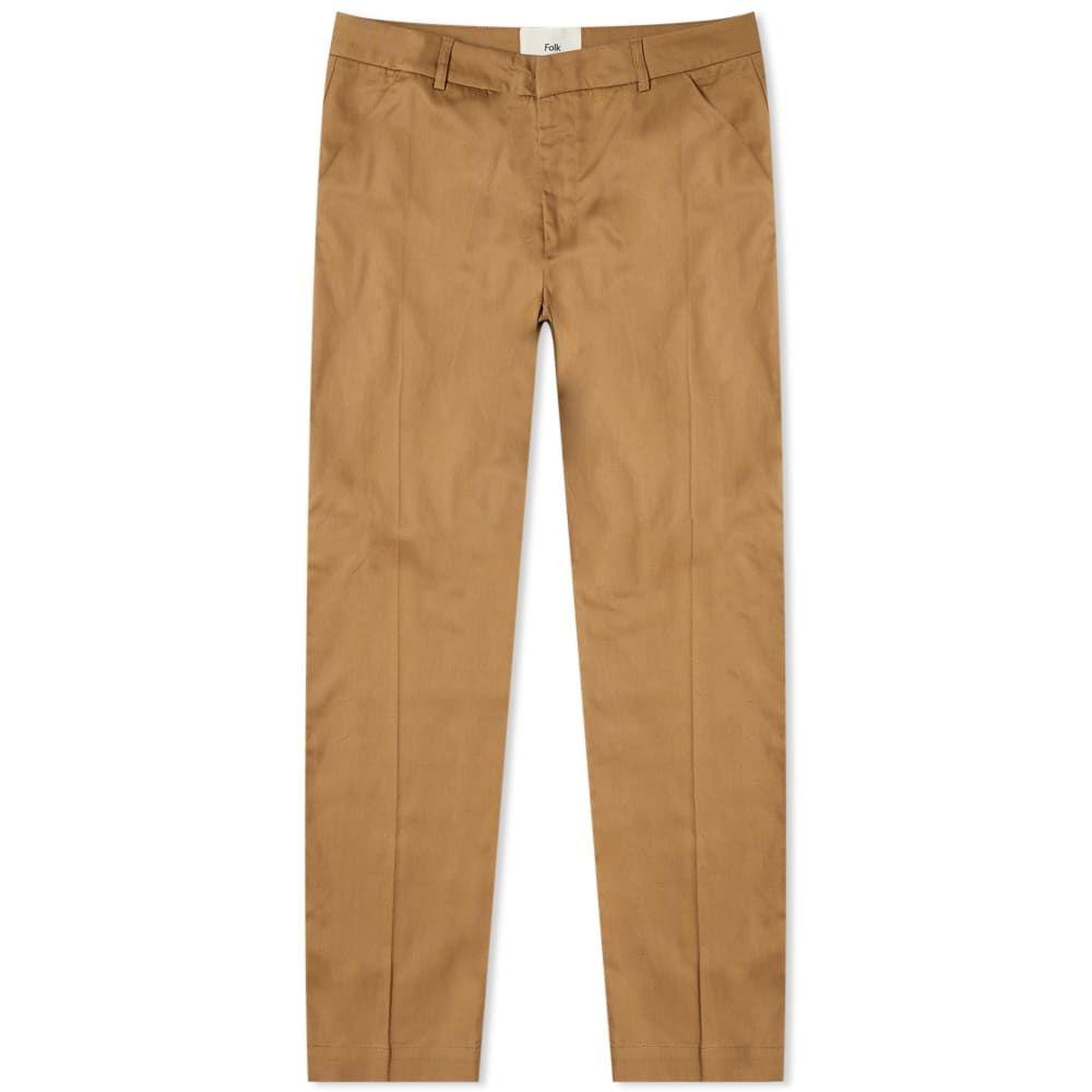 フォーク Folk メンズ ボトムス・パンツ 【clean twill pant】Sandstone
