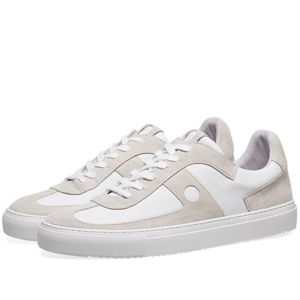 フォーク Folk メンズ シューズ・靴 スニーカー【Mid Court Sneaker】White/Off White