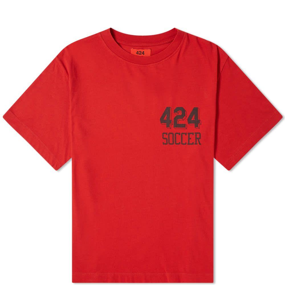 フォートゥーフォー 424 メンズ Tシャツ トップス【soccer tee】Red