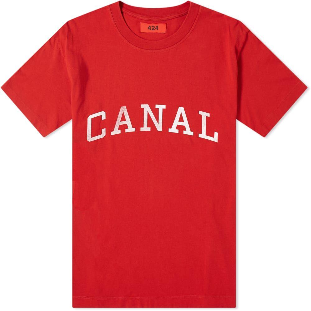 フォートゥーフォー 424 メンズ Tシャツ トップス【canal tee】Red