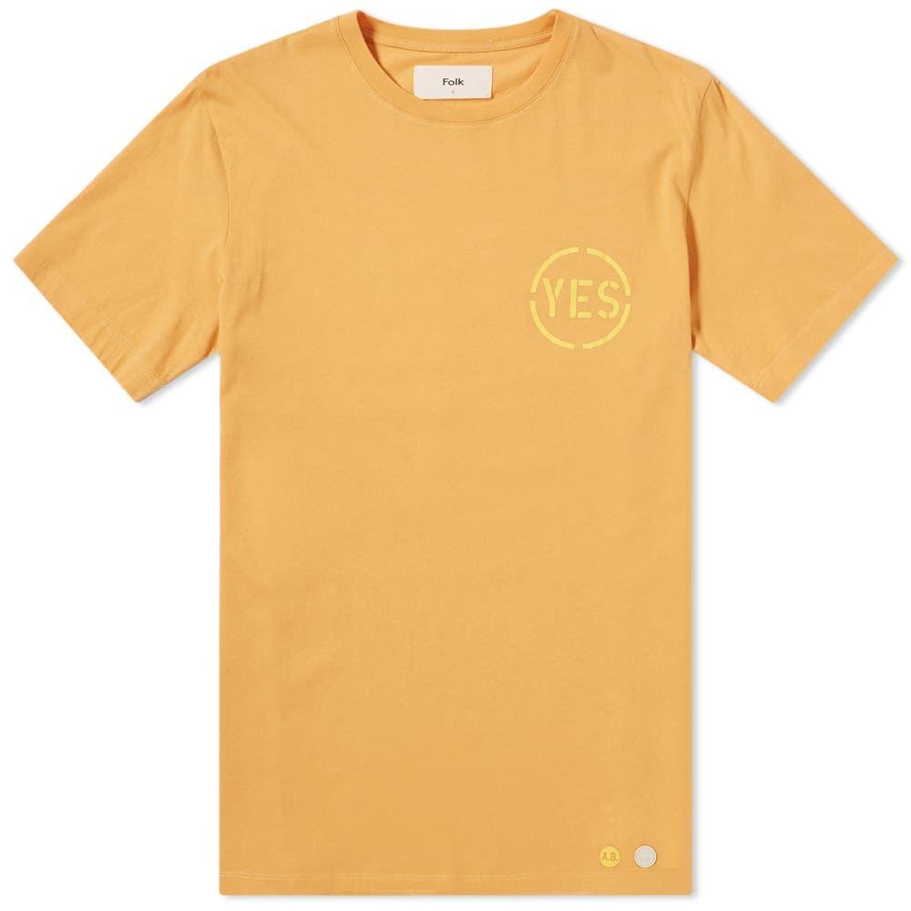 フォーク Folk メンズ Tシャツ トップス【x anthony burrill yes tee】Amber