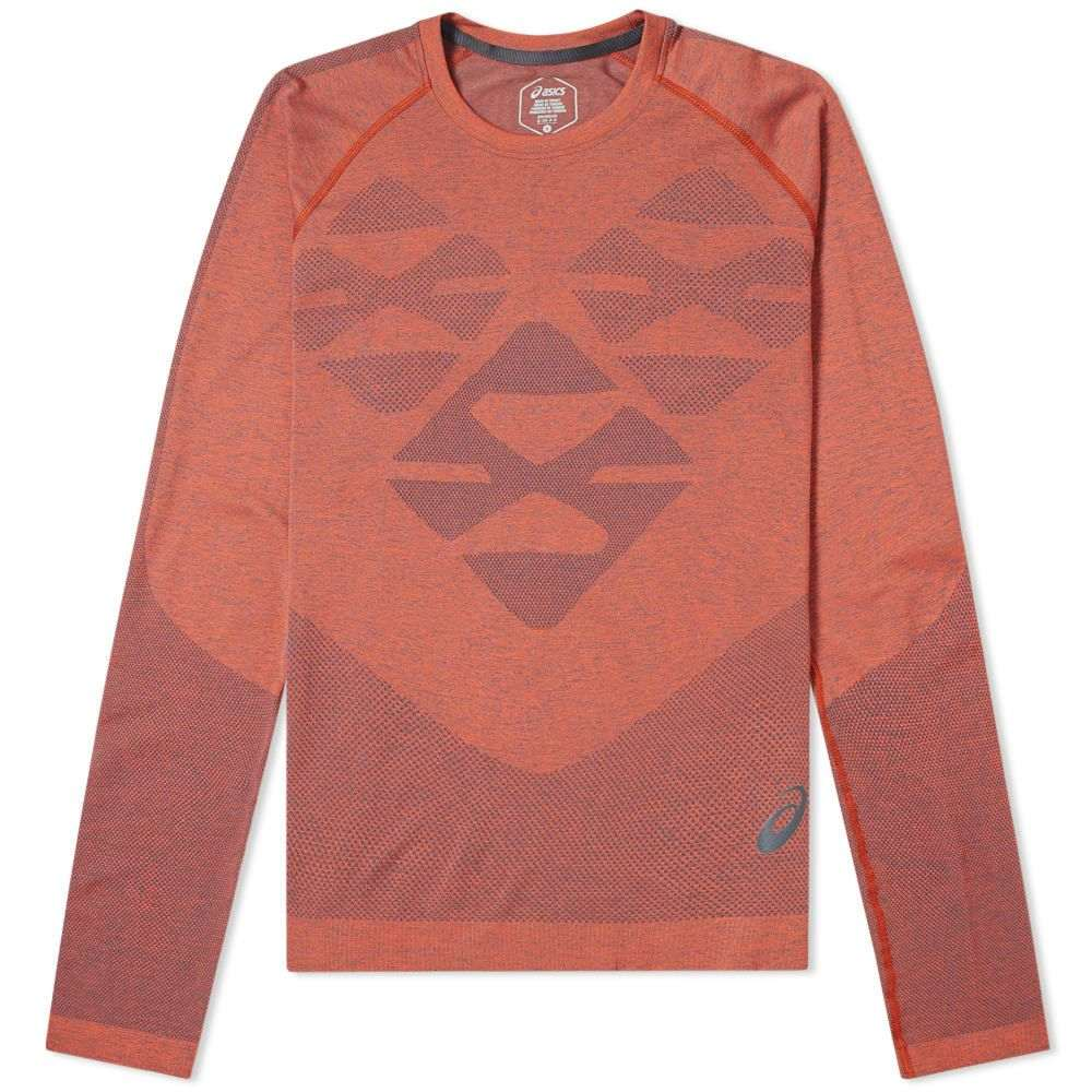 アシックス Asics メンズ 長袖Tシャツ トップス【x kiko kostadinov long sleeve seamless tee】Tarmac/Nova Orange