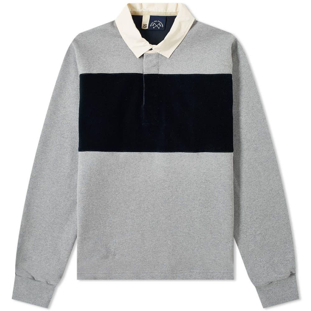 ブルー ドゥ パナム Bleu de Paname メンズ ポロシャツ トップス【rugby polo】Grey Marl