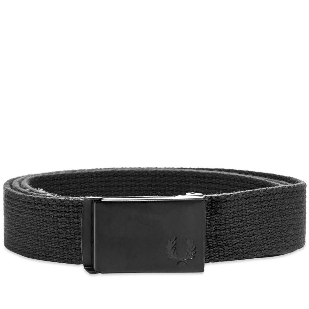 フレッドペリー Fred Perry Authentic メンズ ベルト 【fred perry slim graphic webbing belt】Black