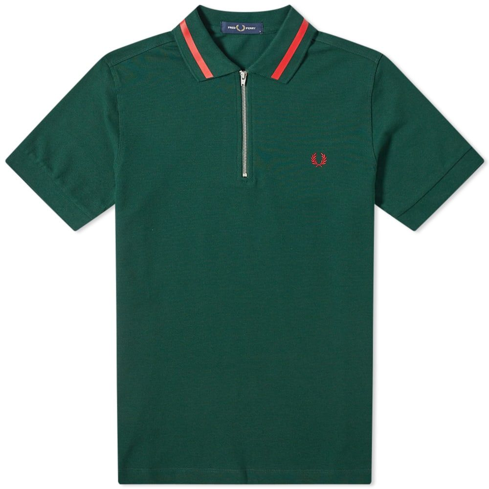 フレッドペリー Fred Perry Authentic メンズ ポロシャツ トップス【zip neck pique polo】Ivy